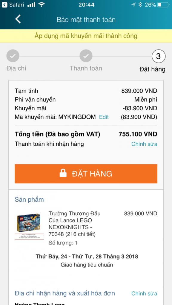 mã giảm giá lazada app